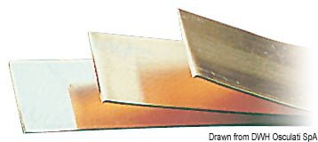 Kupferplatte, verzinkt 2 x 20 mm (4,20 m Stange) - Art. 14.392.00 1