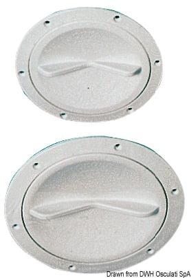 Inspektionsdeckel weiß verbesserte Öffnung 127 mm - Art. 20.202.00 3