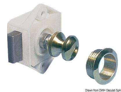 Druckknopfschloß Messing, verhromt 16 mm - Art. 38.182.01 1