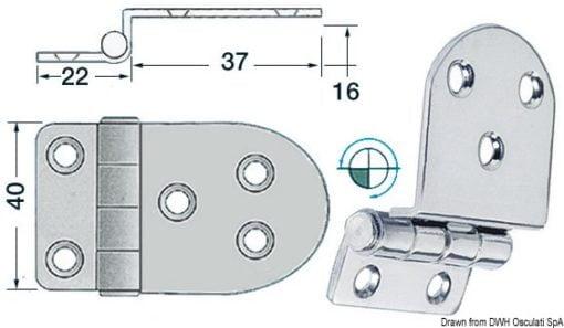 Winkelscharnier 59x40 mm - Art. 38.441.58 1