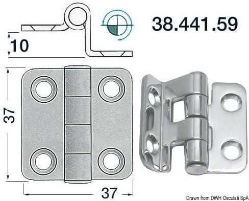 Winkelscharnier 37x37 mm - Art. 38.441.59 1