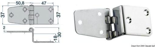 Winkelscharnier 97,8x37 mm - Art. 38.441.84 1