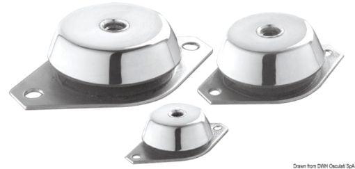 Antivibrationshalterung aus Stahl, verzinkt 350 kg - Art. 51.656.04 1