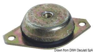 Antivibrationshalterung aus Stahl, verzinkt 350 kg - Art. 51.656.04 2