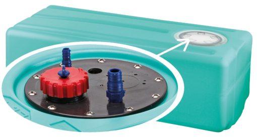 Trinkwassertank mit Stutzen aus hochwertigem und geschmacksneutralem Kunststoff. lt. 45 – (CAN SB) – Art. SE2047A 3
