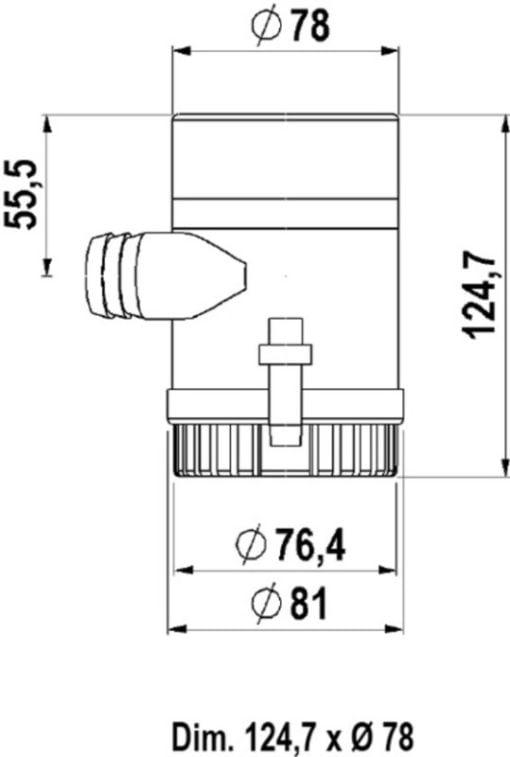 Marco UP1000 Eintauchpumpe 63 l/min (12 Volt) – Art. 16012012 2