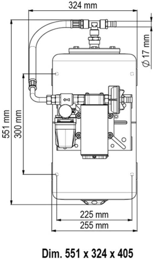 Marco UP12/A-V20 Automatische Druckwasserpumpe 36 l/min + Ausdehnungsgefäss 20 l (24 Volt) – Art. 16468413 2