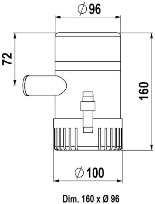 Marco UP1500 Eintauchpumpe 95 l/min (12 Volt) – Art. 16014012 2
