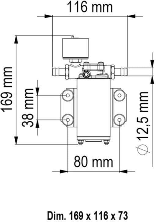 Marco UP2/E Elektronische Süßwasserpumpe 10 l/min – Art. 16466015 3