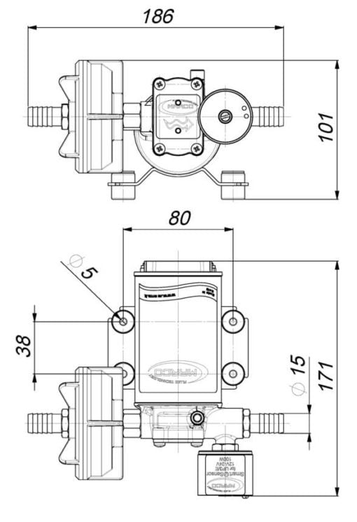Marco UP3/E Elektronische Süßwasserpumpe 15 l/min – Art. 16460215 3