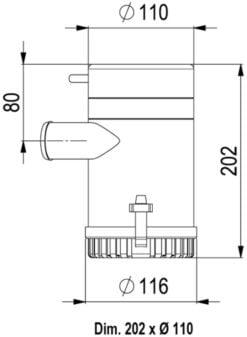 Marco UP3700 Eintauchpumpe 233 l/min (24 Volt) – Art. 16018013 5