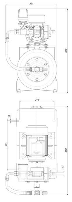 Marco UP6/A-AC 220 V 50 Hz Automatische Druckwasserpumpe mit Ausdehnungsgefäss 20 l – Art. 1646261C 5