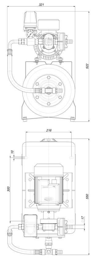 Marco UP6/A-AC 220 V 50 Hz Automatische Druckwasserpumpe mit Ausdehnungsgefäss 20 l – Art. 1646261C 2