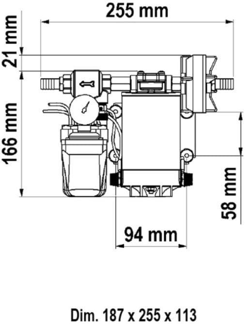 Marco UP9/A Automatische Druckwasserpumpe mit Druckwächter 12 l/min (12 Volt) – Art. 16464012 2