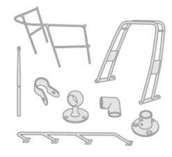 41 - Reling und ihre Bestandteile- Angelrutenhalter