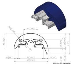 Profilleiste aus PVC und eloxiertem Aluminium