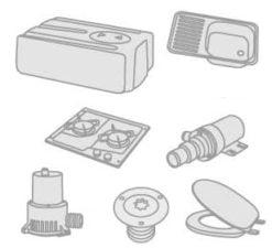 50 - Spülen- Kocher- Kühlschränke- WC